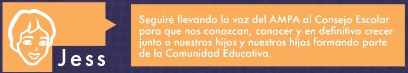 Mensaje de Jess como representante del AMPA en el Consejo Escolar.