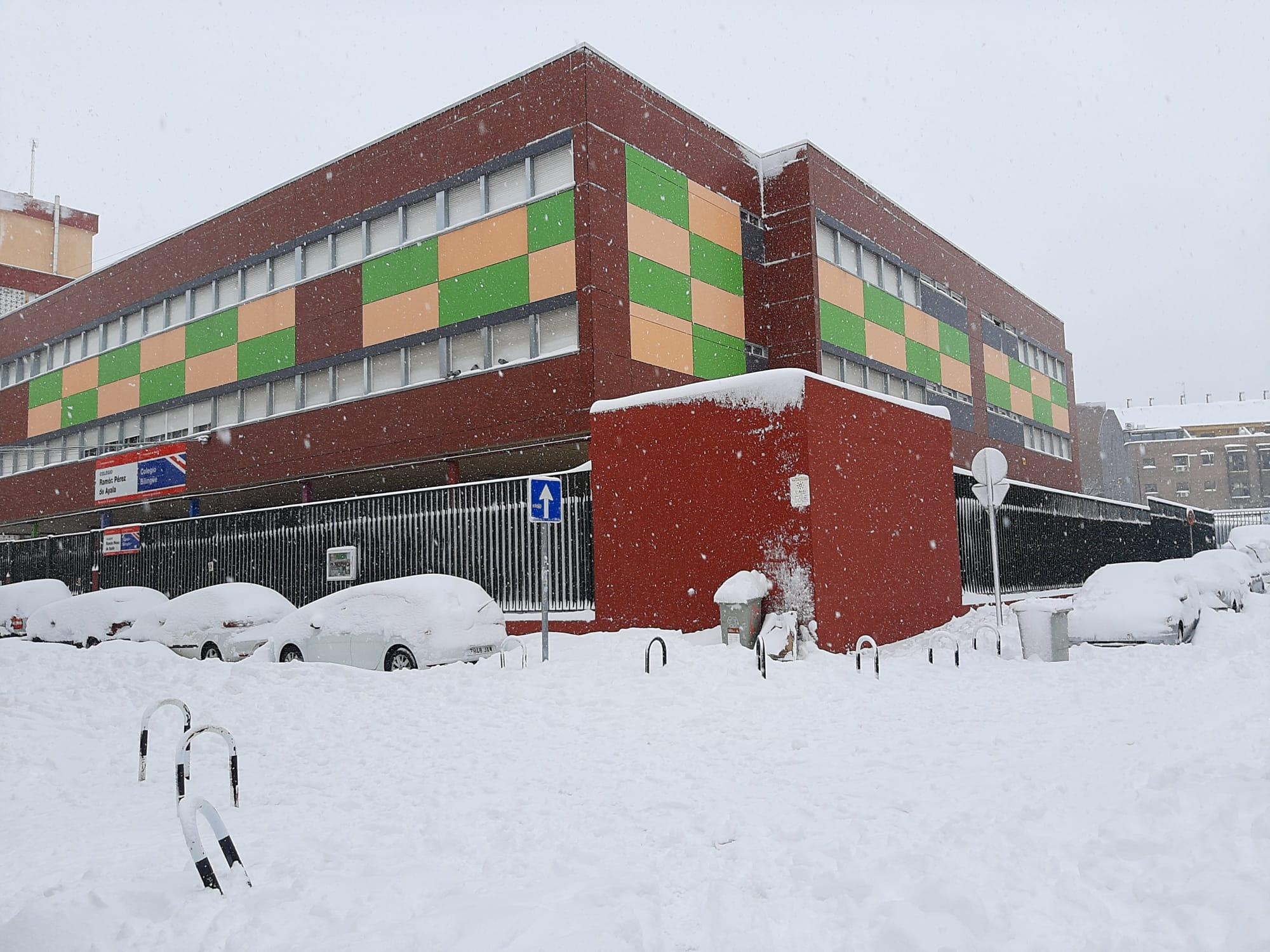 Estampa del Ramón Pérez de Ayala nevado, enero 2021.