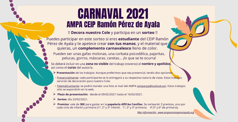 Cartel sorteo carnaval 2021