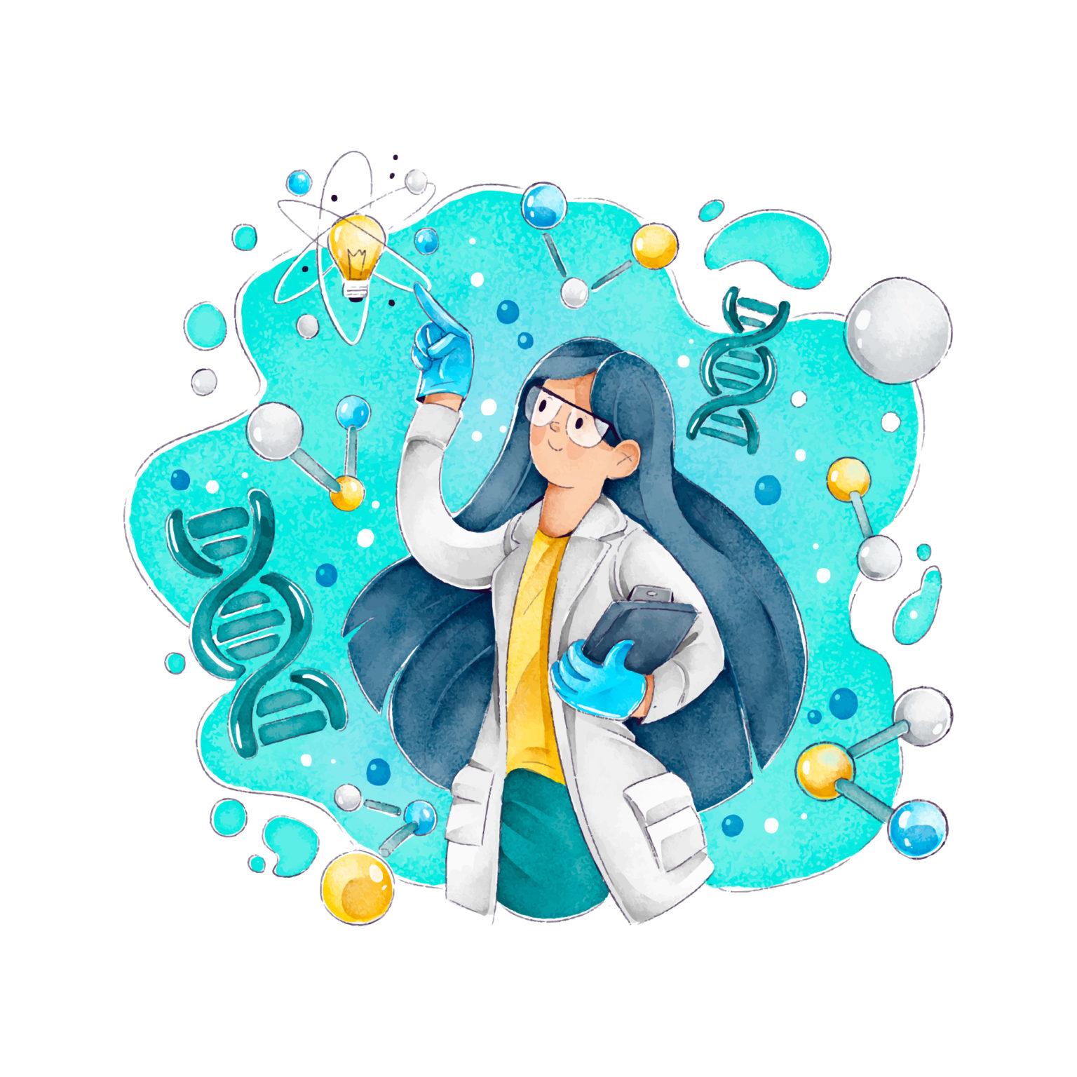 Imagen de una mujer cientifica