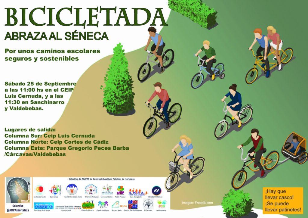 Imagen del cartel publicitario para la bicicletada.